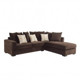 Coaster Olson Reversible Upholstered Sectional in Chocolate