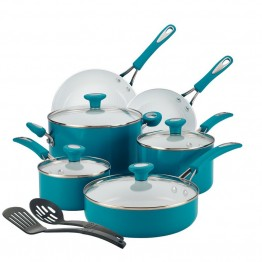 SilverStone Ceramic CXi 12 Piece Cookware Set in Marine Blue