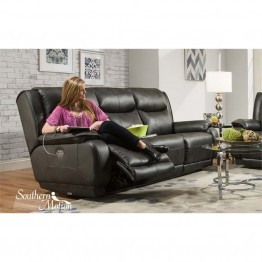 Southern Motion Velocity Double Reclining Sofa in Hemmingway Slate