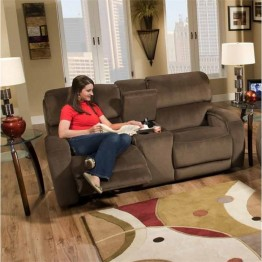 Southern Motion Avalon Double Reclining Loveseat in Night Party Coffee