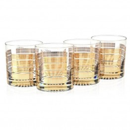 Culver Classic Gold 11 oz Old Fashion Glass (Set of 4)