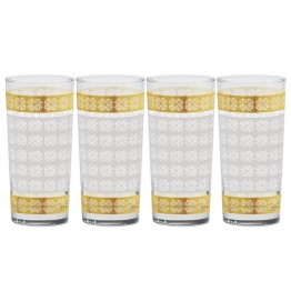Culver Classic Gold 15 oz Cooler Glass (Set of 4)