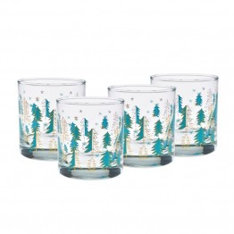 Culver Holiday 11 oz Old Fashion Glass (Set of 4)