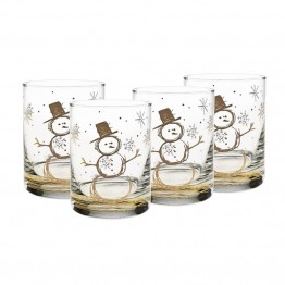 Culver Holiday 14 oz Double Old Fashion Glass (Set of 4)