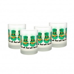 Culver Festive 14 oz Frosted Double Old Fashion Glass (Set of 4)