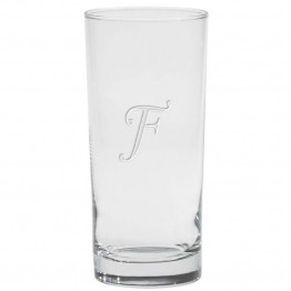 Culver Monogram 15 oz Etched Cooler Glass (Set of 4)