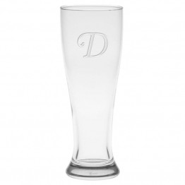 Culver Monogram 16 oz Pilsner Etched Glass (Set of 4)