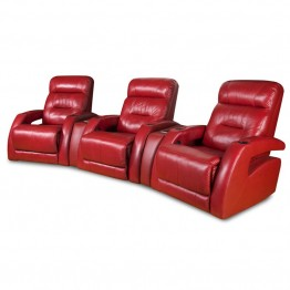 Southern Motion Viva 3 Seat Reclining Theater Seating in Surreal Burpee