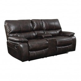 Coaster Willemse Motion Loveseat with Storage Console in Chocolate
