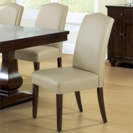 Monarch 2 Piece Leather Dining Chair in Tan