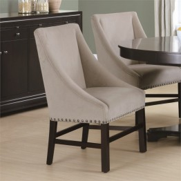 Monarch 2 Piece Dining Chair in Taupe