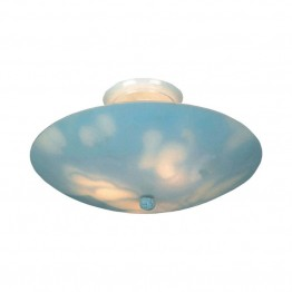 Elk Lighting Kidshine 3 Light LED Kids Semi Flush Mount in Clouds