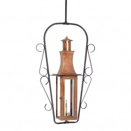 Elk Lighting Maryville Outdoor Gas Hanging Lantern in Aged Copper