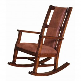 Sunny Designs Santa Fe Rocker with Cushion in Dark Chocolate