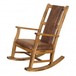 Sunny Designs Sedona Rocker with Cushion in Rustic Oak