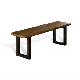Sunny Designs Live Edge Dining Bench in Natural Mindi