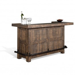 Sunny Designs Homestead Home Bar in Tobacco Leaf