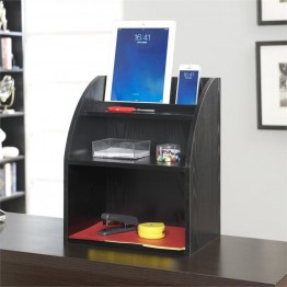 Convenience Concepts Designs2Go Desktop Organizer with Shelf in Black