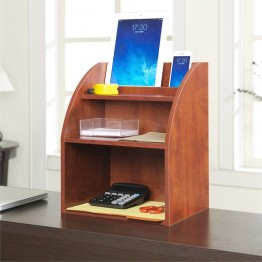 Convenience Concepts Designs2Go Desktop Organizer with Shelf in Cherry