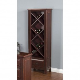Sunny Designs Etagere with Wine Storage in Red