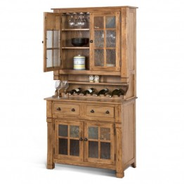 Sunny Designs Sedona China Cabinet in Rustic Oak