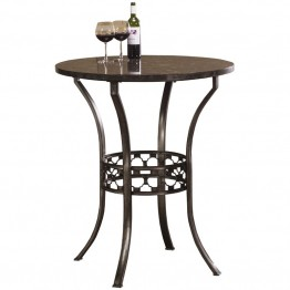 Hillsdale Brescello Pub Table in Antique Pewter