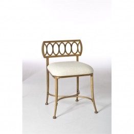 Hillsdale Canal Street Vanity Stool in Gold Bronze