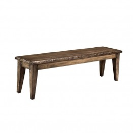 "Hillsdale Lorient 61"""" Dining Bench in Washed Charcoal Gray"