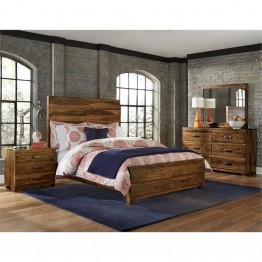 Hillsdale Madera 4 Piece Queen Panel Bedroom Set in Natural