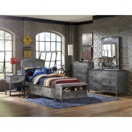 Hillsdale Urban Quarters 5 Piece Twin Panel Storage Bedroom Set