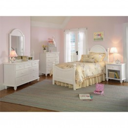Hillsdale Westfield 5 Piece Full Bedroom Set in Off White
