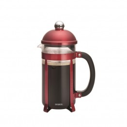 BonJour Coffee 8 Cup French Press in Candy Apple Red