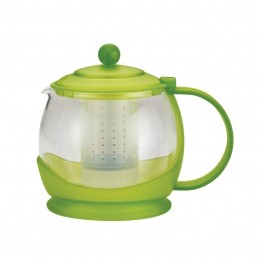 BonJour Tea Glass Teapot in Jasmine Green