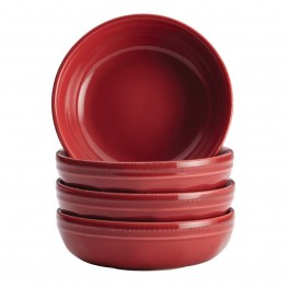 Rachael Ray Cucina Dinnerware 4 Piece Fruit Bowl Set in Cranberry Red