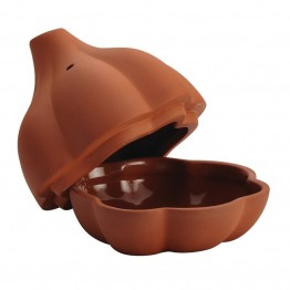 Rachael Ray Cucina Stoneware Garlic Roaster in Terra Cotta