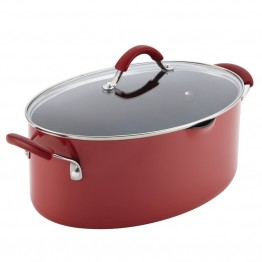 Rachael Ray Cucina Pasta Pot in Cranberry Red