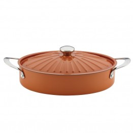 Rachael Ray Cucina 5 qt. Dutch Oven in Pumpkin Orange