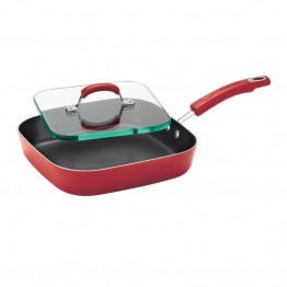 Rachael Ray Hard Enamel Griddle in Red Gradient