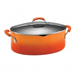 Rachael Ray Porcelain Pasta Pot in Orange Gradient