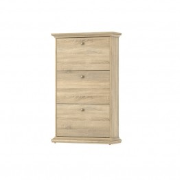 Tvilum Hamilton 3 Drawer Shoe Cabinet in Oak Structure