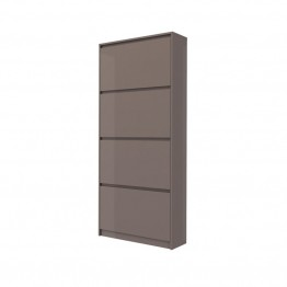 Tvilum Hamilton 4 Drawer Shoe Cabinet in Mocha High Gloss