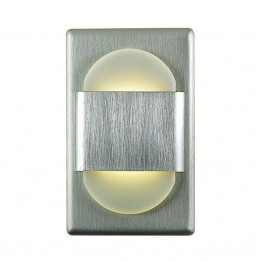 Alico EZ Step LED Step Light in Brushed Aluminum