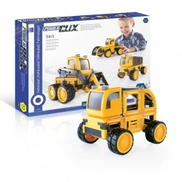 Guidecraft PowerClix Construction Vehicle Set