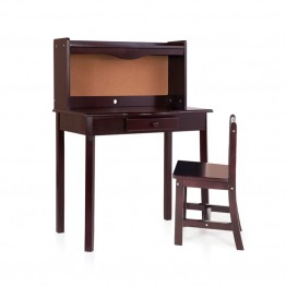 Guidecraft Classic Desk with Chair in Espresso