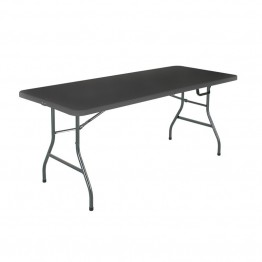 Cosco 6' Centerfold Blow Molded Folding Table in Black