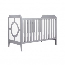 Da Vinci Poppy Regency 3-in-1 Convertible Crib in White and Gray