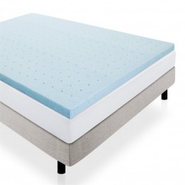 "Malouf Lucid Twin 2"""" Gel-Infused Memory Foam Mattress Topper"