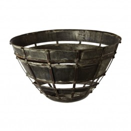 Dimond Home Fortress Bowl in Distressed Silver