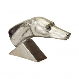 Dimond Home Gilded Age Greyhound Statuette in Silver