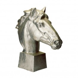 Dimond Home Gilded Age Horse Head in Distressed Silver